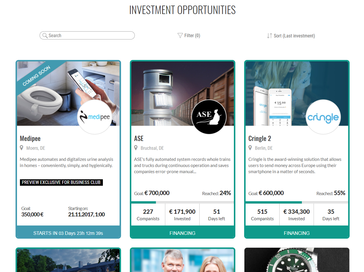 Companisto investment opportunities